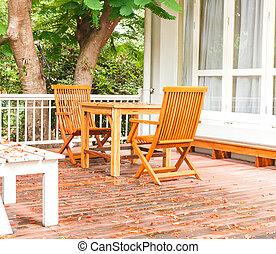 Adirondack wood chairs