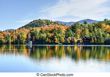 Adirondacks Peak Fall Foliage in Lake Placid, New York.