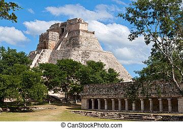 adivino, ピラミッド, (pyramid, メキシコ\, ), mayan, anicent, mérida,...
