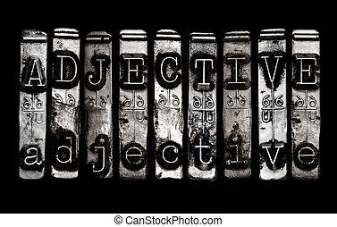 adjective, conceito