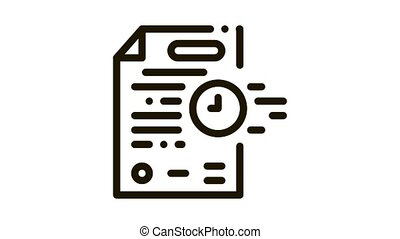 adjournment of trial date Icon Animation. black adjournment of trial date animated icon on white background