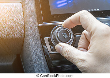 Adjust button the air conditioning in car