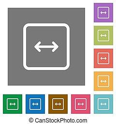 Adjust object width square flat icons - Adjust object width...