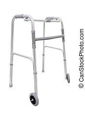 Adjustable walker for elderly, disabled isolated on white