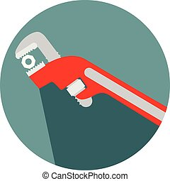 adjustable wrench tool for the job icon
