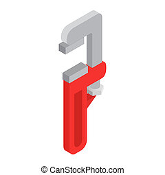 Adjustable wrench with red handle
