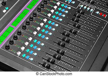 Adjusting Audio Mixing Console