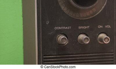 Adjusting Brightness on a Retro TV