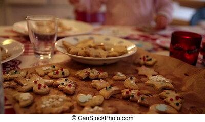 Adjusting focus on some cookies on advent first - Adjusting...