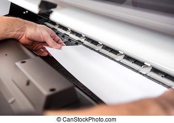 Adjusting paper in printer