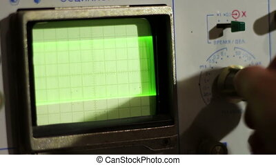 Adjusting Signal Oscilloscope - Radio master engineer...