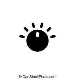 Adjusting Volume Regulator, Audio Controller. Flat Vector Icon illustration. Simple black symbol on white background. Adjusting Regulator Controller sign design template for web and mobile UI element.