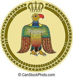 adler, runder , emblem