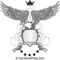 adler, schild, und, emblem