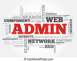 ADMIN word cloud, security concept