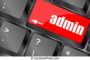 admin button on a computer keyboard keys