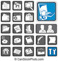 admin icons. - A collection of different administration...
