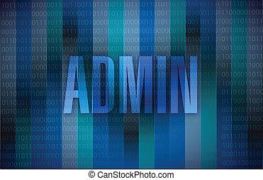 admin, mensaje, ilustración, diseño