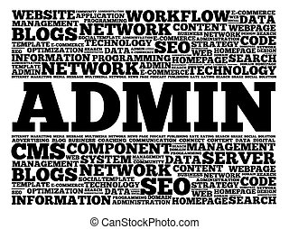ADMIN word cloud concept