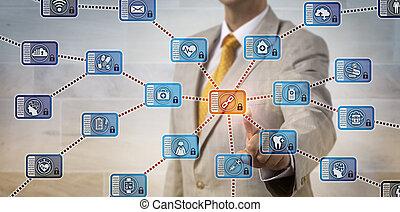 administrateur, activer, healthcare, blockchain