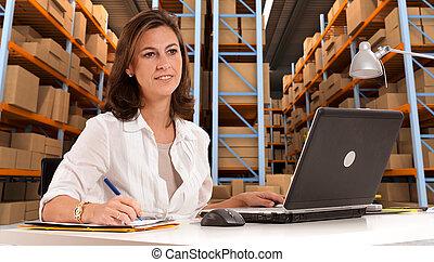administrativ, hos, fördelning, artiklar