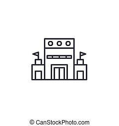 Administrative goverment building linear icon concept. Administrative goverment building line vector sign, symbol, illustration.