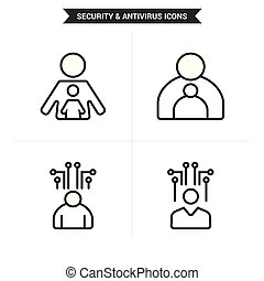 Administrator and parental control Icons