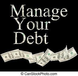administre, seu, dívida, isolado, palavras, com, americano,...