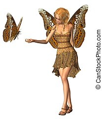 Admiral Butterfly Fairy - 3 - Admiral butterfly and fairy...
