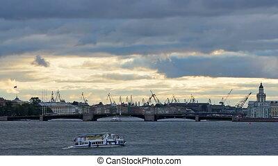 Admiralty Shipyard near Neva River