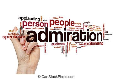 Admiration word cloud concept with fan success related tags