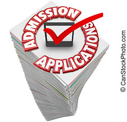 Admission Applications Paperwork Document Stack Pile College...