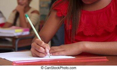 admission, essai, et, examen, pour, groupe, de, étudiants école