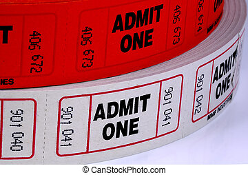 Admission Tickets - Rolls of Admission Tickets