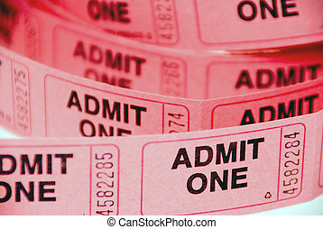 Admission Tickets - A small roll of retail admission...