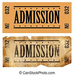 admissions, 切符