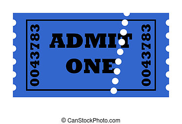 Admit One perforated ticket - Admit one perforated ticket...