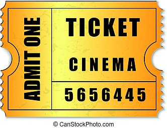 Admit One ticket icon isolated