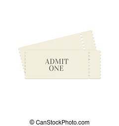 Admit one ticket illustration.