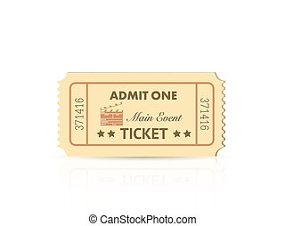 Admit One Ticket - Illustration of a colorful admit one...