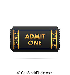 Admit One Ticket - Illustration of a ticket isolated on a...