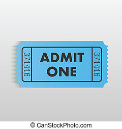 "Admit One Ticket - Illustration of an ""Admit One"" ticket on..."