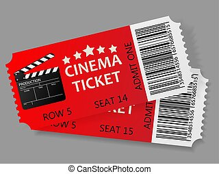 Admit one tickets. Vector illustration.