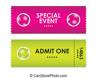 admit one tickets with special christmas design