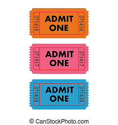 Admit One Vector - Vector Illustration of an Admit One...