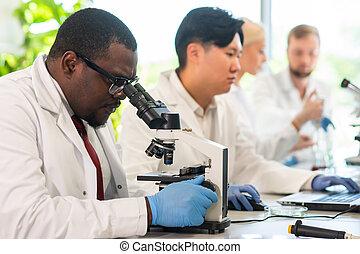 adn, doutor, concept., research., virology, lab.,...