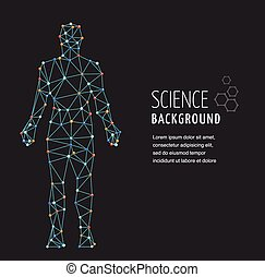 adn, símbolo, molécula, genético, adn, estrutura, homem