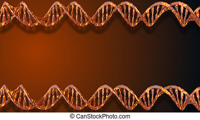 adn, spiral., science, résumé, wireframe, molécule, polygonal, arrière-plan., hélix, 3d, monde médical, dna.
