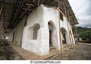 adobe church in Tierradentro