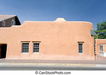 archivio immagini di stile adobe messico casa fe sata